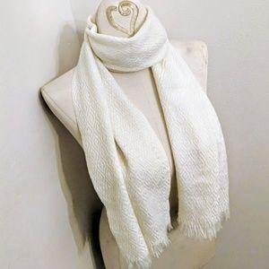 Accessories - Diamond Lace Knit Acrylic Scarf